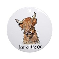2009 Year Of The Ox Ornament (Round)