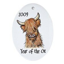 2009 Year Of The Ox Oval Ornament