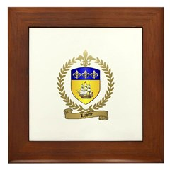 LIZOTTE Family Crest Framed Tile