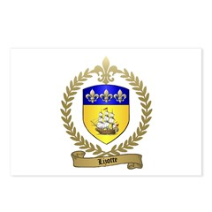 LIZOTTE Family Crest Postcards (Package of 8)