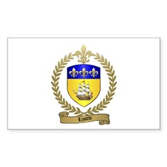 LIZOTTE Family Crest Rectangle Decal