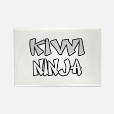 """Kiwi Ninja"" Rectangle Magnet"