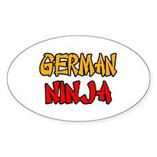"""""""German Ninja"""" Oval Decal"""