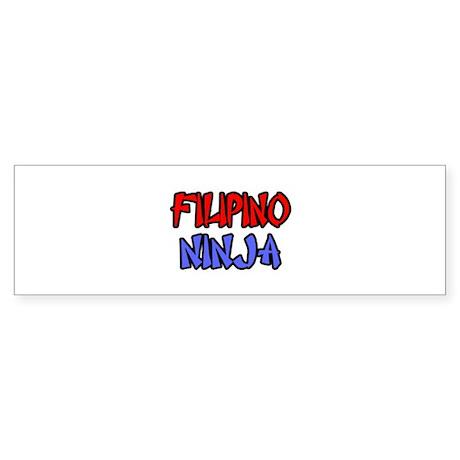 """""""Filipino Ninja"""" Bumper Sticker"""