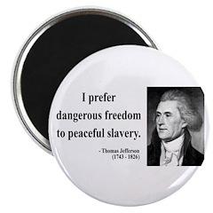 "Thomas Jefferson 15 2.25"" Magnet (100 pack)"
