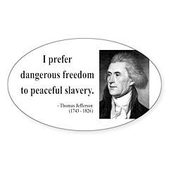 Thomas Jefferson 15 Oval Decal