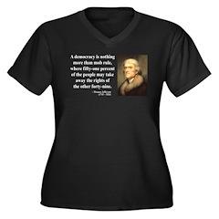Thomas Jefferson 16 Women's Plus Size V-Neck Dark