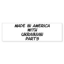 Ukrainian Parts Bumper Bumper Sticker