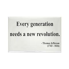 Thomas Jefferson 17 Rectangle Magnet (100 pack)