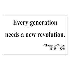 Thomas Jefferson 17 Rectangle Decal