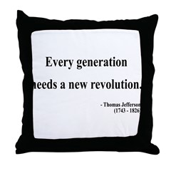Thomas Jefferson 17 Throw Pillow