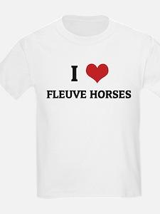 I Love Fleuve Horses Kids T-Shirt
