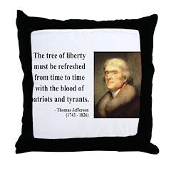 Thomas Jefferson 18 Throw Pillow