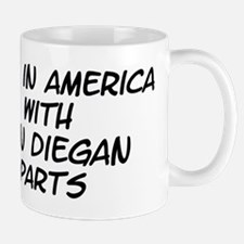 San Diegan Parts Mug