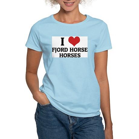I Love Fjord Horse Horses Women's Pink T-Shirt