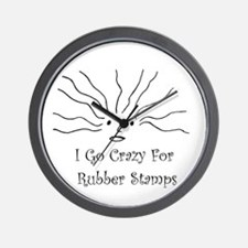 Crazy for Rubber Stamps Stamping Wall Clock