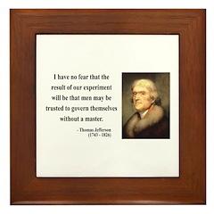 Thomas Jefferson 19 Framed Tile