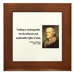 Thomas Jefferson 20 Framed Tile