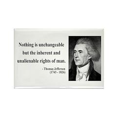 Thomas Jefferson 20 Rectangle Magnet (10 pack)