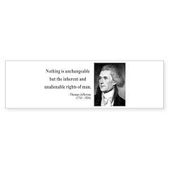 Thomas Jefferson 20 Bumper Bumper Sticker