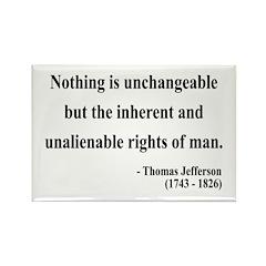 Thomas Jefferson 20 Rectangle Magnet