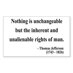 Thomas Jefferson 20 Rectangle Decal