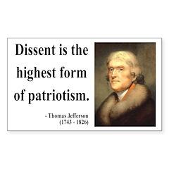 Thomas Jefferson 24 Rectangle Decal