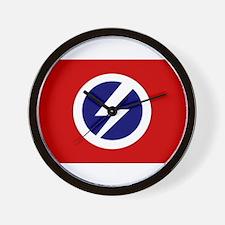 Flash and Circle Wall Clock