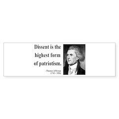 Thomas Jefferson 24 Bumper Bumper Sticker