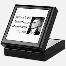 Thomas Jefferson 24 Keepsake Box