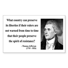 Thomas Jefferson 25 Rectangle Decal