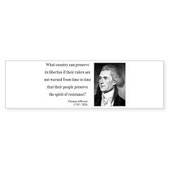 Thomas Jefferson 25 Bumper Bumper Sticker