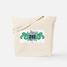 Zoe's Purple-Green Butterfly  Tote Bag