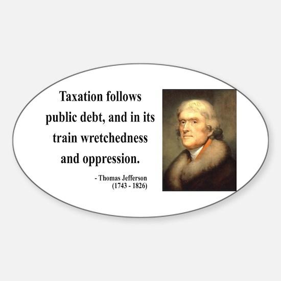 Thomas Jefferson 26 Oval Decal