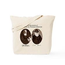 Wallace & Charles Darwin Tote Bag