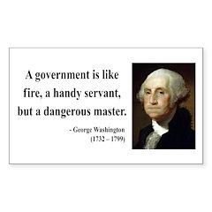 George Washington 1 Rectangle Decal