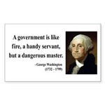 George Washington 1 Rectangle Sticker