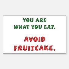 Avoid Fruitcake Rectangle Decal