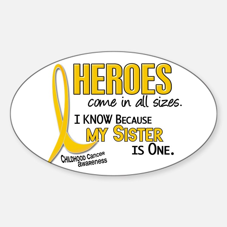 Heroes All Sizes 1 (Sister) Oval Decal