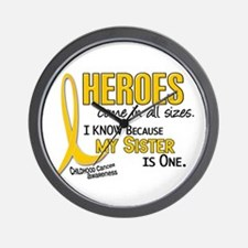 Heroes All Sizes 1 (Sister) Wall Clock