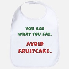 Avoid Fruitcake Bib
