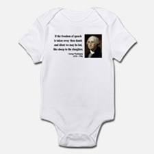 George Washington 3 Infant Bodysuit