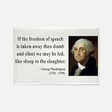 George Washington 3 Rectangle Magnet