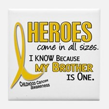 Heroes All Sizes 1 (Brother) Tile Coaster