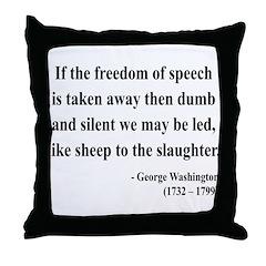 George Washington 3 Throw Pillow