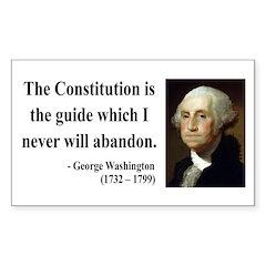 George Washington 4 Rectangle Decal