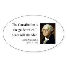 George Washington 4 Oval Decal