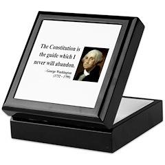 George Washington 4 Keepsake Box