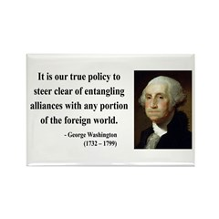 George Washington 6 Rectangle Magnet (100 pack)