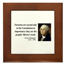 George Washington 12 Framed Tile